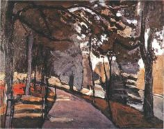 The path in the Bois de Boulogne - Henri Matisse.......So cool that Matisse portrays the path I used to walk!!! <3 <3