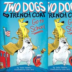 In a hilarious new chapter book series, Two Dogs In a Trench Coat Go To School by Julie Falatko with illustrations by Colin Jack, two devoted pets go to great lengths to keep an eye (or two) on their boy owner. From Scholastic #kidlit #bookreview #childrensbooks #chapterbook #humor #dogs #friendship #school  https://wp.me/p3X25n-7FB