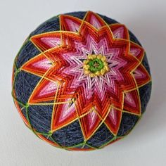 One of the most traditional of temari stitches is the kiku  or chrysanthemum stitch. It's easy stitch to learn. Some stitches look easy t...