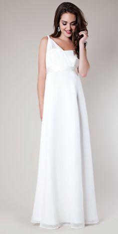 Asymmetrical Maternity Wedding Gown by Tiffany Rose