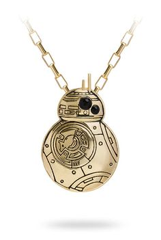 Gold BB-8 Pendant Necklace