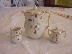 jewel tea autumn leaf coffee set