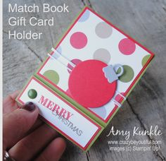 Matchbook Gift Card Holder