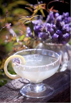 Lavender Lemon Drop - Ingredients: 2 oz Tru Organic Lemon Vodka 1 oz fresh lemon juice/lemon peel lavender sprig 1 Tbsp simple syrup lavender sprig for garnish Preparation: Lightly muddle the lavender and simple syrup in a cocktail shaker. Add ice and other ingredients. Shake well. Strain into a chilled cocktail glass. Garnish with a lavender sprig/lemon peel