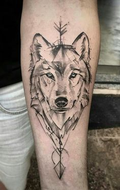 Wolf Tattoos 91315 Wolf tattoos: several beautiful images for inspiration - Wolf tattoos: several . - Wolf tattoos: several beautiful images for inspiration - Wolf tattoos - Tattoo L, Tattoo Und Piercing, Tattoo Drawings, Body Art Tattoos, Hand Tattoos, Circle Tattoos, Owl Tattoos, Tattoo On Thigh, Tattoo For Man