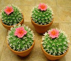 cactus cupcakes for fiesta