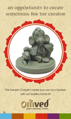Sculpting a Ganesha idol, worshipping it and then immersing it, depicts the Karmic cycle of life. In Vedic times,people were said to have created idols from Shaadu(natural clay) at home and then on Ganesh Chaturthi,they would immerse them in their backyard. Sculpting an idol is a divine act and stimulates strong feelings of devotion, faith and positivity.