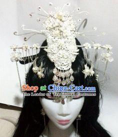 Chinese Ancient Empress Princess Queen Hair Accessories Headdress Hairpin Headwear Jewelry for Women Girls