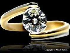 Image result for rub over diamond ring settings