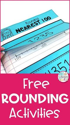 Tips for Teaching Rounding Strategies to help students master the skill of rounding. Also includes some FREE interactive notebook activities! Math Notebooks, Interactive Notebooks, Rounding Activities, Place Value Activities, Math Round, Professor, Fourth Grade Math, Rounding 3rd Grade, Math Crafts