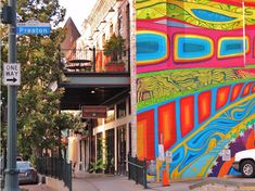 "Downtown Houston - ""Houston Inspired"" Mural on Treebeard's building at Market Sq"
