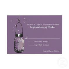 #Purple #Mason Jar Invitations