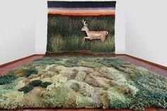 Alexandra Kehayoglou Makes Minature Meadow Carpets with Wool