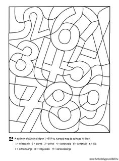 Kinder lernen spielend - ABC und 123 - Zahlen - Ausmalen und Lernen - Freebie *** Fun Kids Learning - Free Printable Learning and drawing the Numbers Numbers Preschool, Preschool Math, Kindergarten Worksheets, Math For Kids, Fun Math, Montessori Activities, Preschool Activities, Teaching Kids, Kids Learning