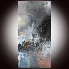 Black and White Art Abstract Painting 36 Black abstract by Andrada, $250.00