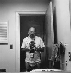 Allen Ginsberg, self portrait in his underwear holding Rolliflex Lawrence Ferlinghetti, Allen Ginsberg, Beat Generation, Story Writer, Writers And Poets, Jack Kerouac, American Poets, American Literature, Aesthetic Art