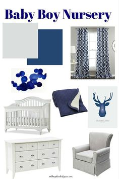Our neutral baby room with a pop of color.