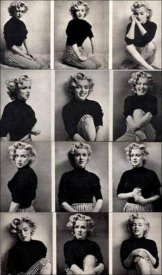 The Many Faces of Marilyn Monroe.