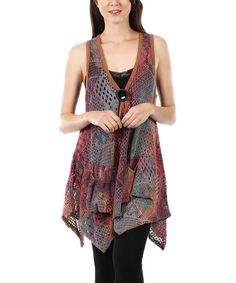 Another great find on #zulily! Red & Gray Patchwork Sleeveless Tunic #zulilyfinds