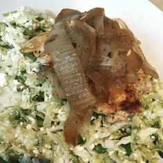 """Protein power plate from Zoe's Kitchen! Cabbage, feta, chicken and carmelized onions for < $8.50. Delish!! #eatrealfood #eatclean #cleaneating #fatloss…"""