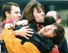 Bad boys brothers: Liam and Noel Gallagher (pictured at Knebworth) have been named in tell...