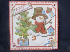 8x8 Country Christmas Patchwork Snowman Mini Kit by Margaret Nichol
