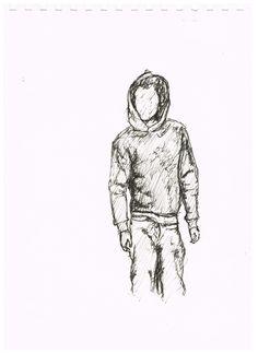 Linienrausch Hoodie-Skizze
