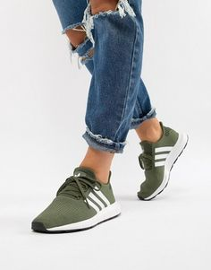 ba76aeda7 adidas Originals Swift Run Sneakers In Khaki