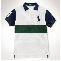 Ralph Lauren Black Big Pony Leisure Stripe Breathable Polo is on clearance sale, the world lowest price.$34.35