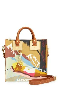 Sophie Hulme 'Albion' Printed Leather Box Tote available at #Nordstrom