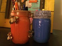 DIY Pencil Holders via Mason Jars