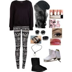 """""""Ice skating"""" by gutierrezbrittany on Polyvore"""