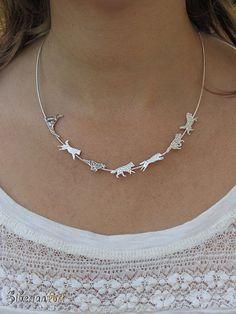 Siberian Husky Team necklace sterling by SiberianArtJewelry