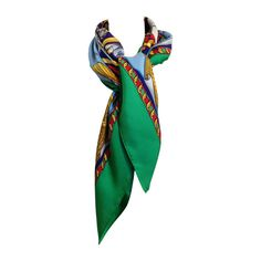 Hermes Reves d'Espace Scarf | From a collection of rare vintage scarves at https://www.1stdibs.com/fashion/accessories/scarves/