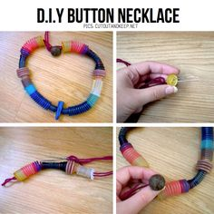 DIY Button Necklace Tutorial
