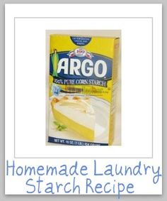 Homemade laundry starch recipe, with just two ingredients, so much cheaper than buying it at the store! {on Stain Removal 101}