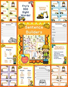 This sentence building center activity is designed to be hands-on and engaging with various tools to help students practice writing complete sentences. This set can be used as a center activity or even as morning work where students can write a daily sentence in their personal sentence writing journal. Writing Complete Sentences, Sentence Writing, Writing Practice, Making Sentences, Reading Resources, School Resources, Teacher Resources, Teaching Ideas, Literacy Stations