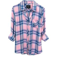 Rails Hunter Shirt - Bubblegum ($210) ❤ liked on Polyvore