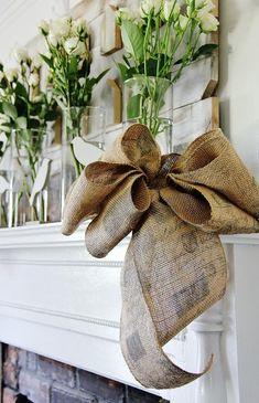 DIY Tutorial: DIY Burlap Crafts / DIY How To Make a Burlap Bow - Bead&Cord - I am loving this bow!