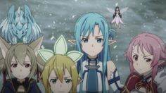 Undine Asuna and Lizbeth