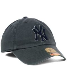 '47 Brand New York Yankees Mlb Hot Corner Franchise Cap - Gray L