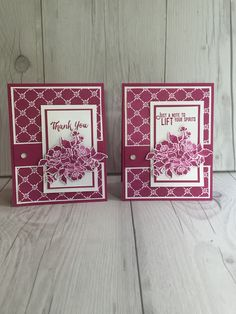 Stampin' Up! handmade card using Fresh Florals Designer Series Papers