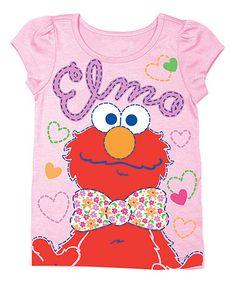 Another great find on #zulily! Light Pink Sesame Street 'Elmo' Tee - Toddler & Girls #zulilyfinds