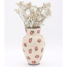 Brixton Pottery Scattered Rose Medium Vase - £17.50