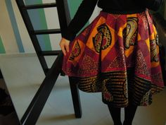 Gonna Afro: fabric from Tanzania, crafted in the studio. luhandthetree.wordpress.com