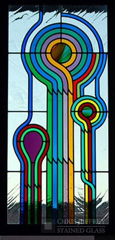 Abstract and unique patterns are awesome. Patterned stained glass can get really boring, really fast. #stainedglass