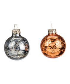Look at this #zulilyfind! Silver & Gold Glass Ball Ornament - Set of Two…