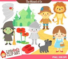 Clip Art - The Wizard of Oz - Fairy Tale Storybook Clipart $