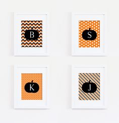 Monogram Halloween Print #homedecor #style #interiorstyling #artwork #interiordecoration #interiordecor #interiordesign #gallerywall #print #fall #autumn #halloween #personalized #monogram