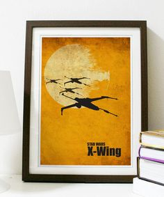 Star Wars  X-Wing A3 Poster Vintage Print by Posterinspired